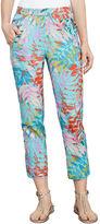 BCBGMAXAZRIA Sebastian Tropical-Print Pant