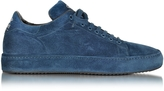 Cesare Paciotti Blue Suede Low Top Men's Sneaker