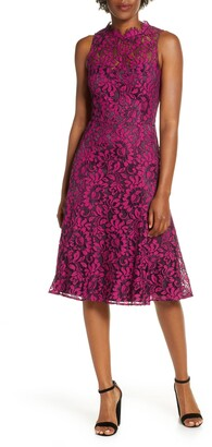 Eliza J Floral Lace Fit & Flare Dress