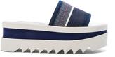 Stella McCartney Denim Platform Slide Sandals