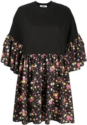MSGM floral print T-shirt dress