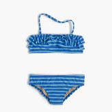 J.Crew Girls' ruffle bikini set in sailor stripes