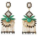 Elizabeth Cole Gold-Tone Crystal And Stone Earrings