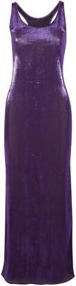 Juan Carlos Obando Hercules Metallic Stretch Silk-blend Maxi Dress