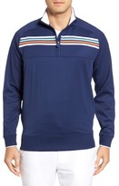 Bobby Jones Men's Xh20 Chest Stripe Quarter Zip Pullover
