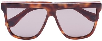 Gucci Tortoiseshell Straight Temple Sunglasses
