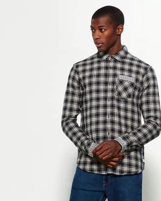 Scotch & Soda Flannel Long Sleeve Sport Shirt