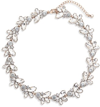 Knotty Crystal Statement Collar Necklace