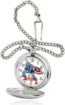 Marvel Captain America Mens Silver-Tone Pocket Watch