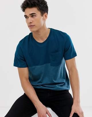 Jack and Jones cut & Sew Pocket t-shirt-Navy