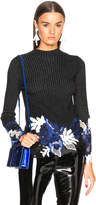 3.1 Phillip Lim Embroidered Lace Ribbed Sweater