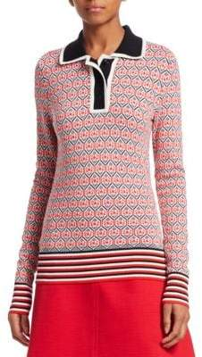 Carven Textured Polo Shirt