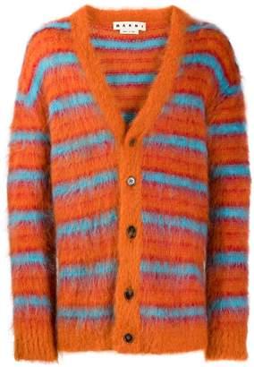 Marni striped pattern cardigan