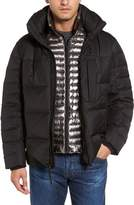 Andrew Marc Men's Quilted Down Jacket With Zip Out Bib