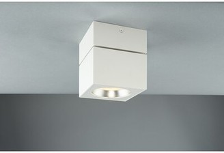 Bruck Lighting Surface Mount Square 1 - Light 4.8'' Flush Mount Fixture Finish: White
