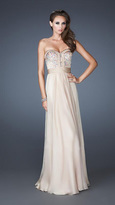 La Femme Dishy Strapless Long Formal Dress with Embellished Bodice 18588