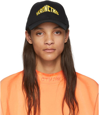 Heron Preston Black Embroidered Style Baseball Cap