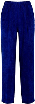 Forte Forte Cobalt Blue Ribbed Velvet Trousers