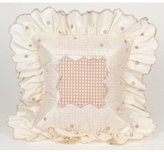 Glenna Jean Madison Pillow - Mocha Dot with Ruffle