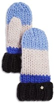 Kate Spade Hand Knit Color Block Mittens