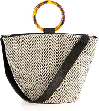 Shiraleah Arbelle Ring Handle Woven Tote