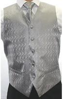 Ferrecci Men's Two-tone Grey 4-piece Vest Set