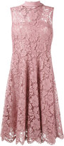 Valentino lace embroidered flared dress - women - Silk/Spandex/Elastane - 40