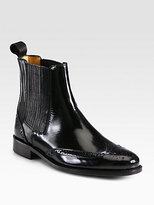 Gwendoline Patent Leather Ankle Boots