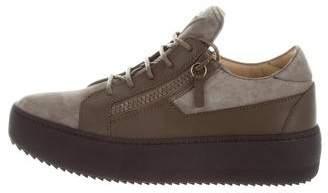 Giuseppe Zanotti Suede Platform Sneakers w/ Tags