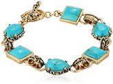 Barse Jubilee Bronze and Turquoise Toggle Bracelet, 8""