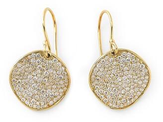 Ippolita 18kt yellow gold medium Flower pave diamond drop earrings
