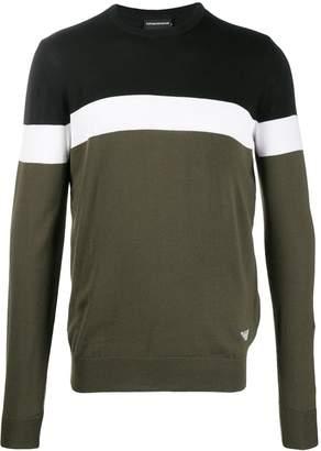 Emporio Armani striped jumper