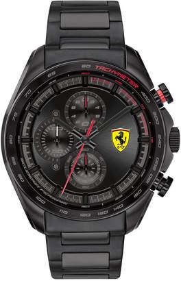 Ferrari Men Chronograph Speedracer Black Pvd Stainless Steel Bracelet Watch 44mm