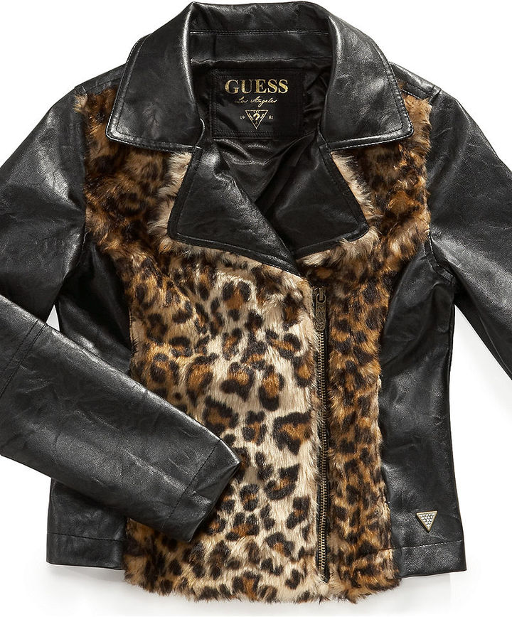 GUESS Kids Jacket, Girls Faux-Leather Jacket