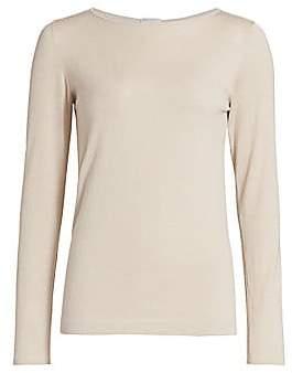 Brunello Cucinelli Women's Lurex Basic Cashmere-Blend Knit Top