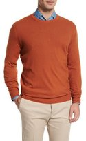 Loro Piana Baby Cashmere Crewneck Sweater, Orange
