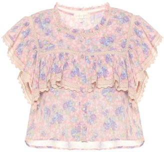 LoveShackFancy Laurel floral cotton top