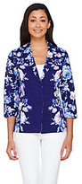 As Is Isaac Mizrahi Live! Placed Floral Print Knit Jacket