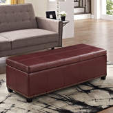 Simpli Home Kingsley Rectangular Storage Ottoman Bench