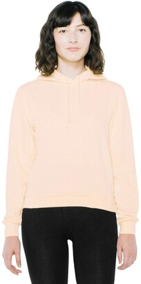 American Apparel Women's French Terry Mid-Length Long Sleeve Hoodie