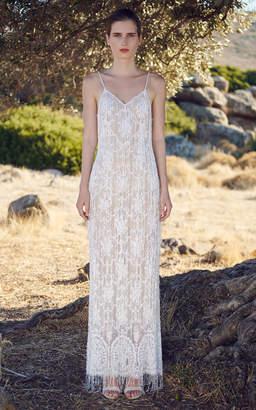 Costarellos Andromeda Fringe Gown