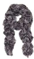 Grey Feather Twirly Faux Fur Scarf
