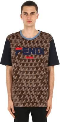 Fendi Mania Cotton Jersey T-shirt