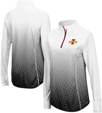 Colosseum Women's Black Iowa State Cyclones Magic Ombre Quarter-Zip Raglan Jacket