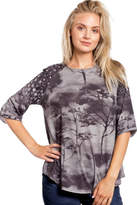 Katina Marie Contrast Heather Top