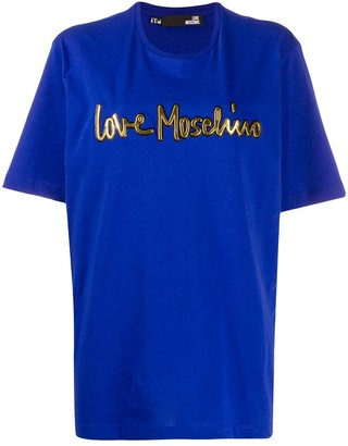 Love Moschino raised logo relaxed-fit T-shirt
