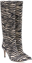 Gianvito Rossi Exclusive to Mytheresa Zebra-print suede boots