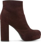 Dune Oklahoma suede platform ankle boots
