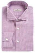 Canali Men's Big & Tall Regular Fit Check Dress Shirt