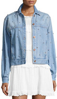 Isabel Marant Coften Beaded Denim Jacket, Blue